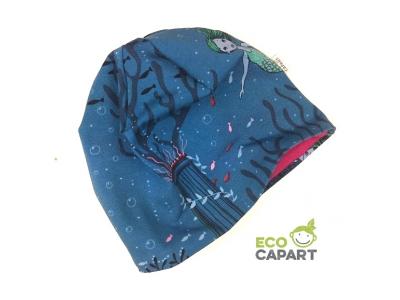 Eco Capart Dětská čepice MERINO - Mořské dno