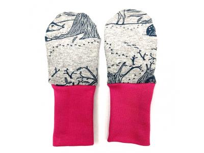 Eco Capart Kojenecké rukavičky bez palce MERINO - Čarovný les