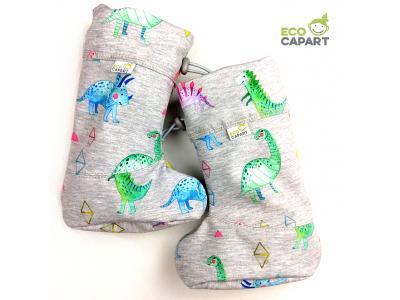Eco Capart Softshellové botičky s MERINO vlnou - Happy Sauria