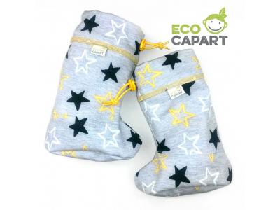 Eco Capart Softshellové botičky s MERINO vlnou - Žluté hvězdy