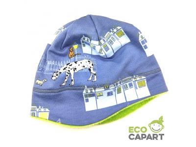 Eco Capart Dětská zimní čepice s flísem - Nightly meeting