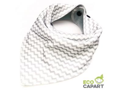 Eco Capart Nákrčník / slintáček s BIO bavlnou - Drobný chevron šedý