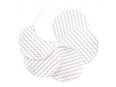 Eco Capart Kojící vložky do podprsenky Stay Dry 3 páry - Drobný chevron šedý