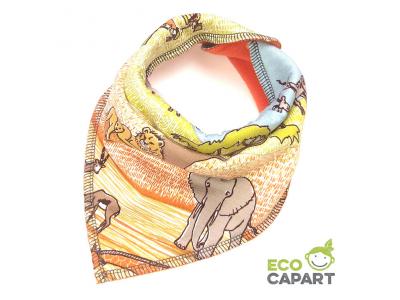 Eco Capart Nákrčník / slintáček s BIO bavlnou - Safari