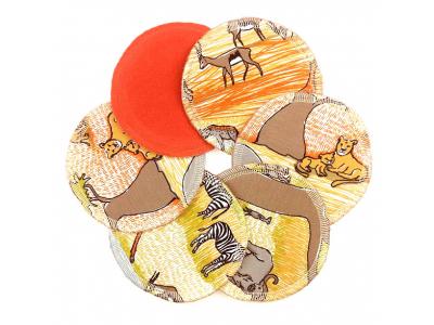 Eco Capart Kojící vložky bambusové, 3 páry - Safari