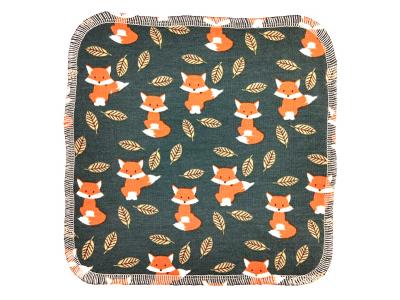 Eco Capart Mycí ubrousek z BIO bavlny 20x20 cm - Lišky v listí
