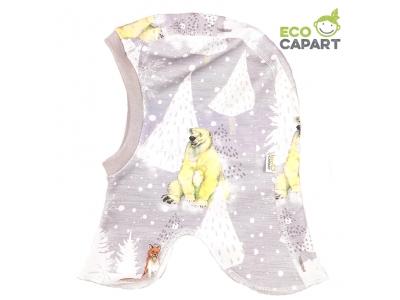Eco Capart Dětská čepice kukla z BIO bavlny - Za polárním kruhem