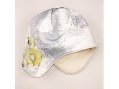 Eco Capart Dětská zimní čepice s beránkem Organic - Za polárním kruhem