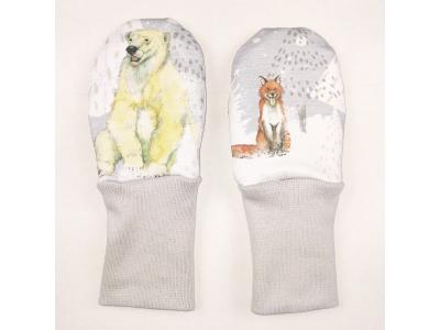 Eco Capart Kojenecké rukavičky bez palce MERINO - Za polárním kruhem