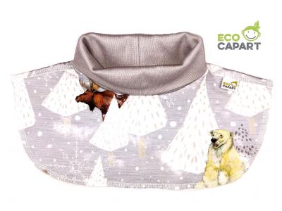 Eco Capart Dětský nákrčník z BIO bavlny - Za polárním kruhem