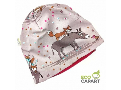 Eco Capart Dětská čepice MERINO - Oslíkovi kamarádi