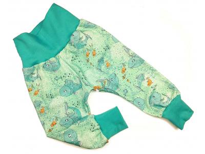 Eco Capart Dětské kalhoty z BIO bavlny - Malá vodnice