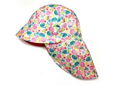 Eco Capart Legionářka dětská letní čepice - Barevné mušle