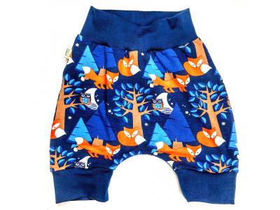 Eco Capart Dětské krátké turkáčky z BIO bavlny - Nightfox Blue
