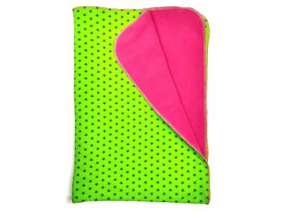 Eco Capart Dětská deka 70 x 100 cm - Zelená s hvězdičkami
