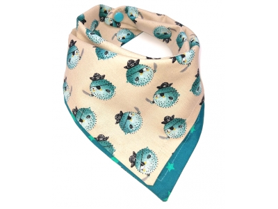Eco Capart Oboustranný šátek slintáček - Ježury a hvězdičky