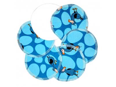Eco Capart Kojící vložky do podprsenky Stay Dry 3 páry - Dodo modrý