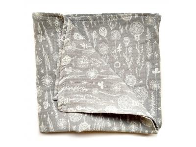 Eco Capart Mušelínový šátek / plenka 36 x 36 cm - Stříbrná louka
