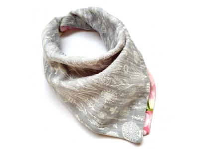 Eco Capart Oboustranný šátek slintáček - Stříbrná louka