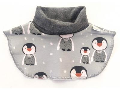 Eco Capart Dětský nákrčník z BIO bavlny - Kolonie tučňáků