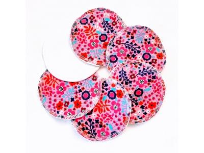Eco Capart Kojící vložky do podprsenky Stay Dry 3 páry - Květinky