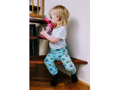 Eco Capart Dětské kalhoty / legíny - Traktůrky