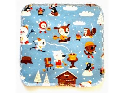 Eco Capart Mycí ubrousek z BIO bavlny 20x20 cm - Hot Chocolat