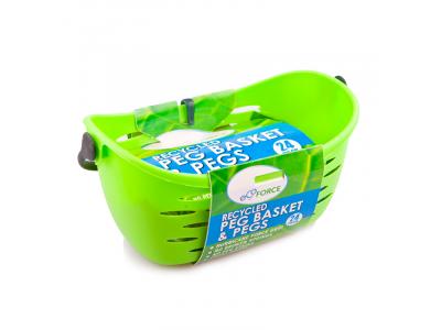 EcoForce Závěsný košík s kolíčky na prádlo 24 ks