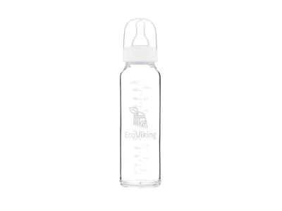 EcoViking Skleněná kojenecká lahev 240ml