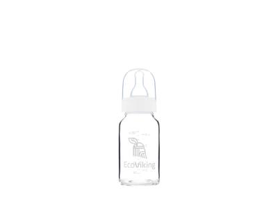 EcoViking Skleněná kojenecká lahev 120ml
