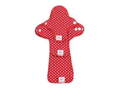 Ella´s House TRIAL SET Hygienické dámské vložky (3ks) - Dots Red