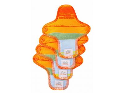 Ella´s House Hygienické dámské vložky (4ks) MINI - Jungle orange
