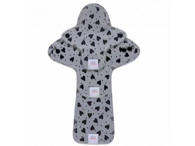 Ella´s House TRIAL SET Hygienické dámské vložky (3ks) - Hearts Grey