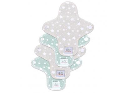 Ella´s House Hygienické dámské vložky (4ks) MINI - PastelStars