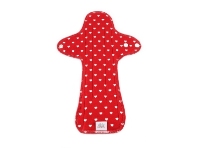 Ella´s House Hygienické dámské vložky (1ks) MAXI - Hearts Red