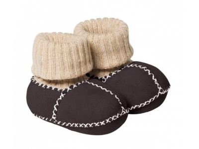 Fellhof Teplé botičky Balu z ovčí kůže - hnědé, vel. 18