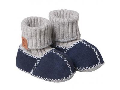Fellhof Teplé botičky Balu z ovčí kůže - modré, vel. 22