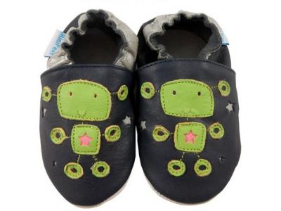 Funkee Feet Kožené dětské capáčky  - ufonci