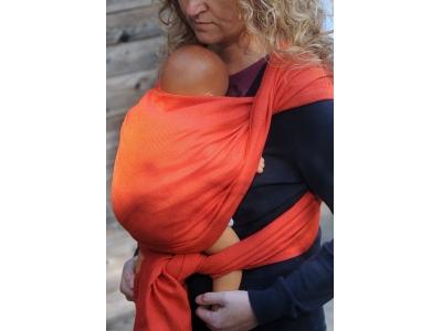 Girasol Coral (diamantová vazba) pevný šátek na nošení dětí - 4,6m