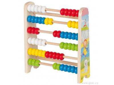 Goki Počítadlo se 60 dřevěnými perličkami - Peggy Diggledey