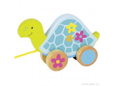 Goki Tahací hračka ze dřeva – Želva