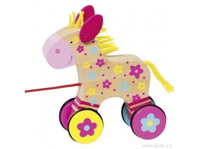 Goki Tahací hračka koník Clara