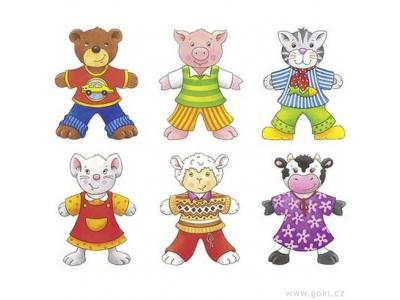 Goki Puzzle - Šatní skříň zvířátka