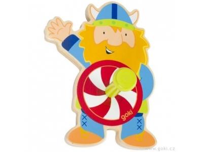 Goki Dětský věšák / úchytka ze dřeva – viking