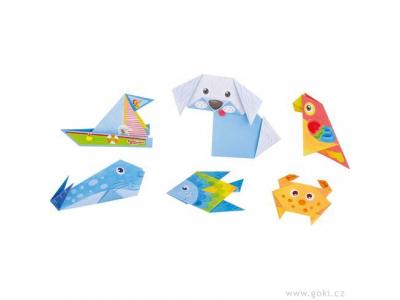 Goki Skládačka z papíru – origami zvířátka, 14 ks