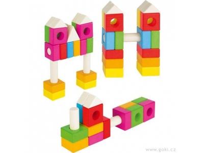 Goki Konstrukční duhová stavebnice, 88 dílů