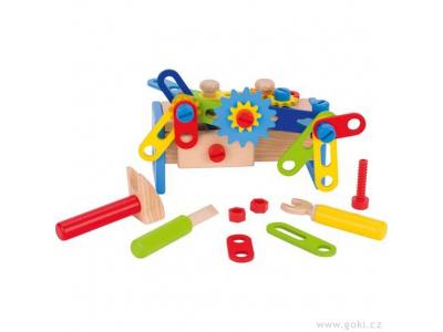Goki Dřevěný ponk pro děti, 40 dílů