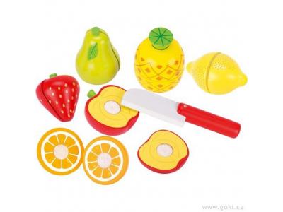 Goki Ovoce na suchý zip k řezání, 13 dílů