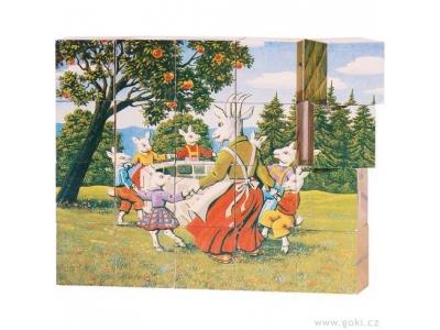 Goki Kostky v dřevěné krabičce - Pohádky