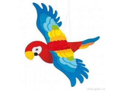 Goki Dřevěný létající papoušek - velký